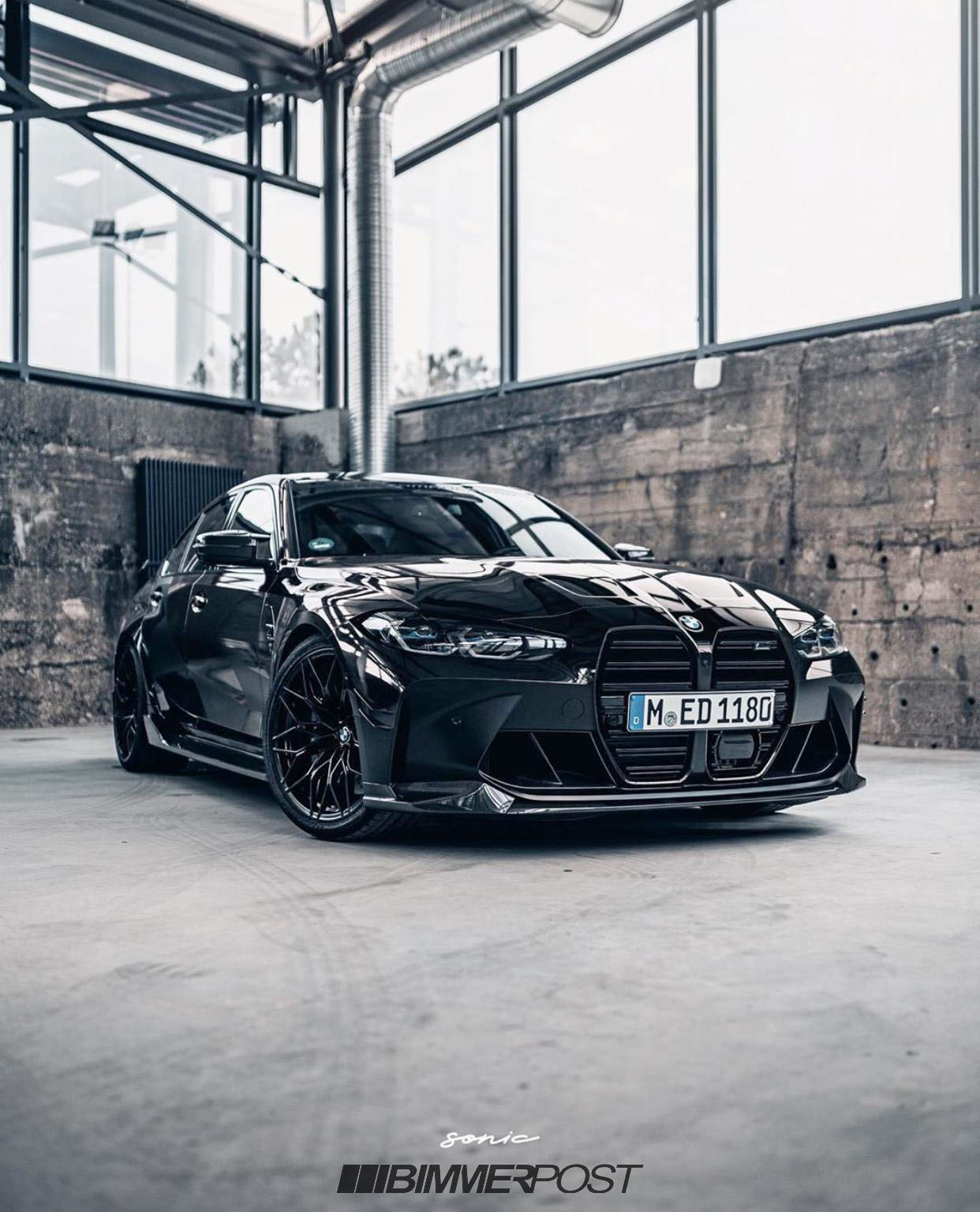 Black G80 M3 Competition With M Performance Parts Is Best Looking Yet Bmw M3 G80 G82
